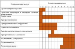 календарный план строительства кролиководческой фермы
