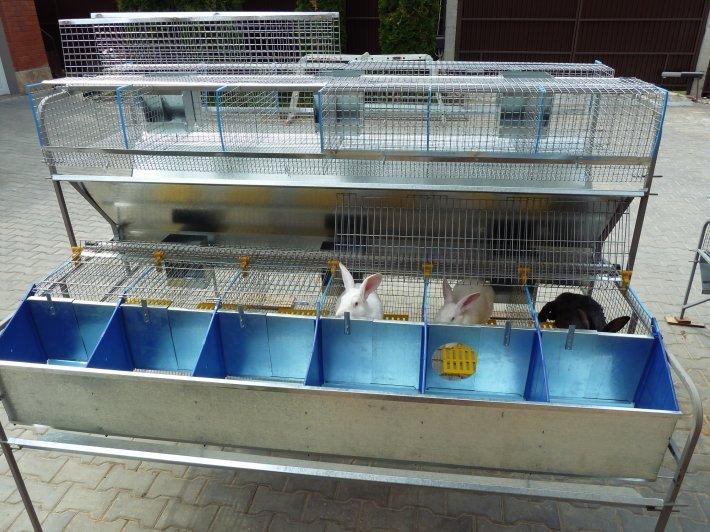 двухэтажная клетка для содержания кроликов