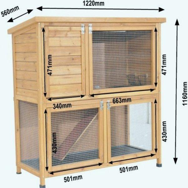 деревянная клетка для домашних кроликов