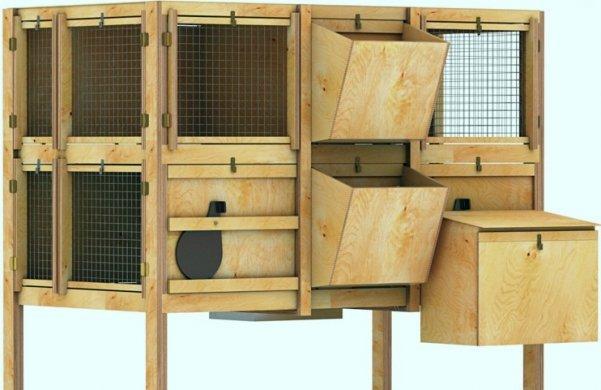 клетка для содержания домашних кроликов